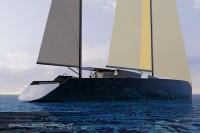 bateau Arkona 120' monocoque voile - design Luc Simon (architecte naval).
