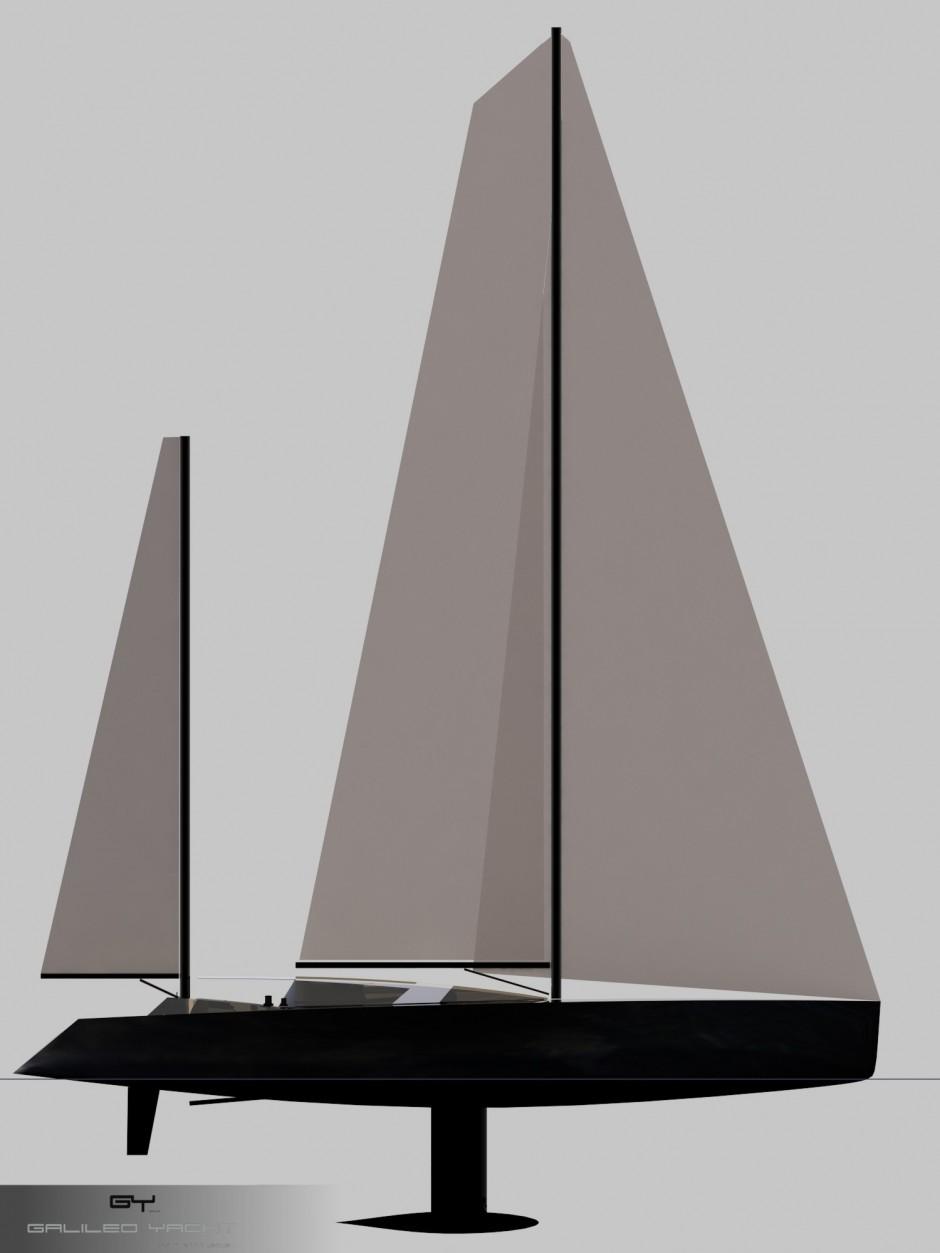 Les grands voiliers monocoques de plus de 100 pieds : l'Arkona 120' par Luc Simon, architecte et designer naval, constructeur de bateau.