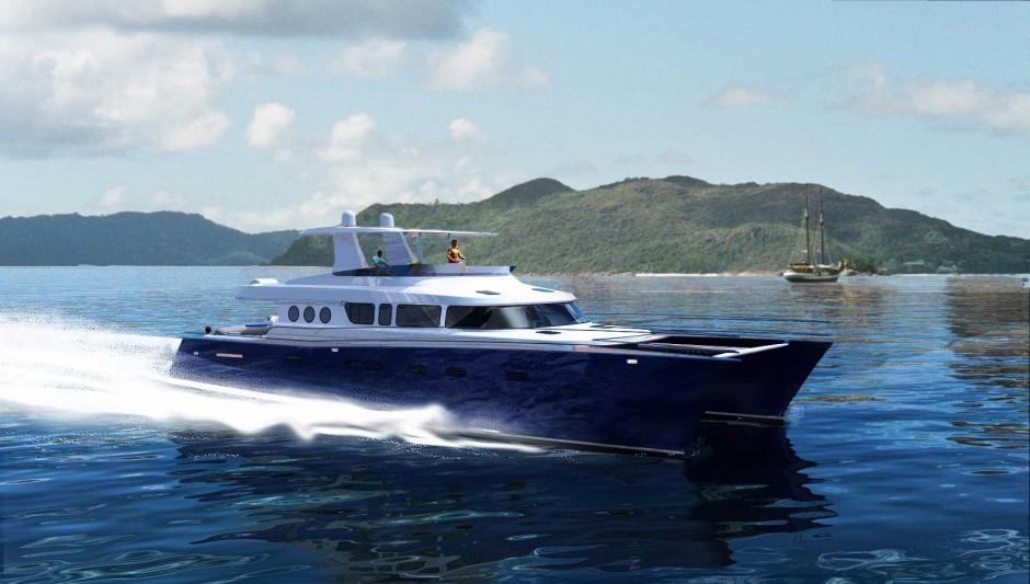 Galileo 77 Kereon Catamaran transatlantique : magazine Yachts septembre 2005.Design et architecture navale Luc Simon.