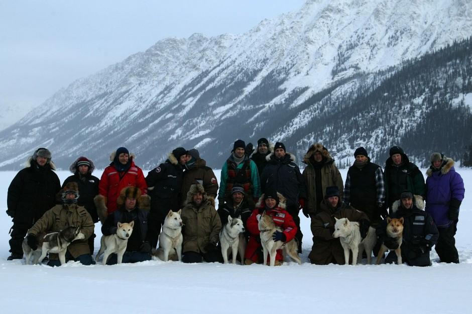 Le dernier Trappeur, film documentaire et de fiction de Nicolas Vanier en 2004 .Grand Nord avec des chiens de traîneau dans le Yukon canadien.