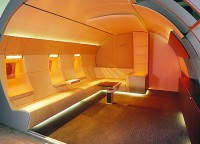 revolutionary new interior concept for the Airbus A319 Corporate Jetliner - design Luc Simon