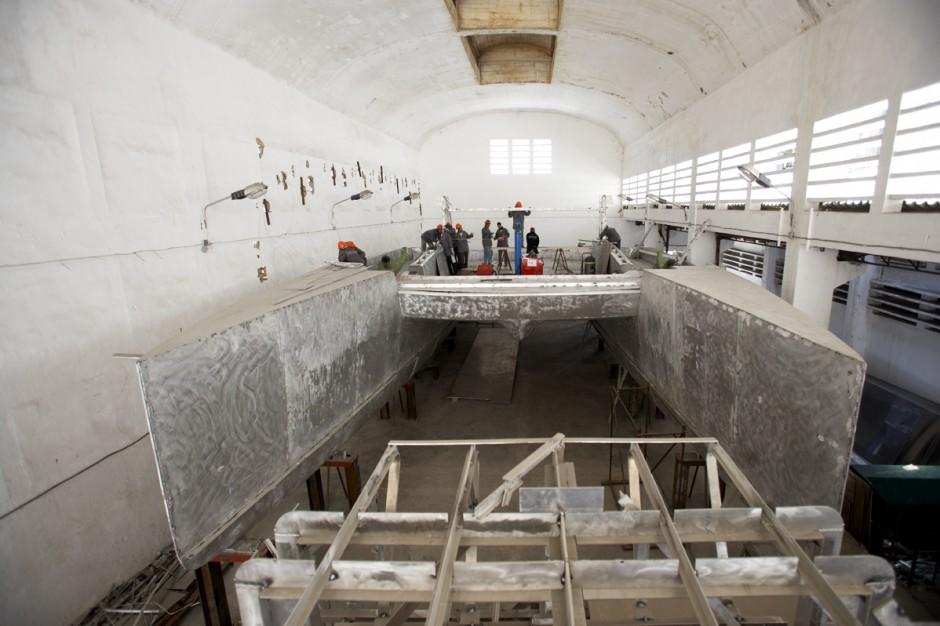 Chaudronnerie : Team Industrie, chantier naval de Kénitra - groupe Simon, Maroc.