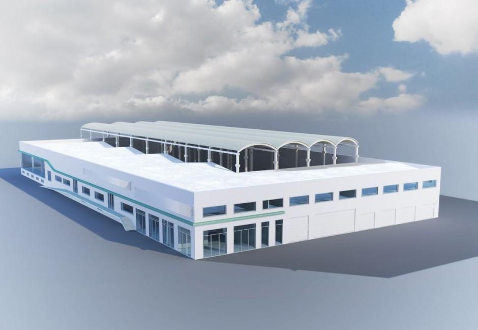Le pôle Nautique du Léman : un port à sec de 500 bateaux, un hall d'exposition, un chantier naval, une boutique nautique, un cabinet d'architecture navale.