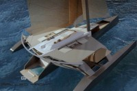 concept-boat - Arkona trimaran 150' à mat repliable par Luc Simon architecte naval