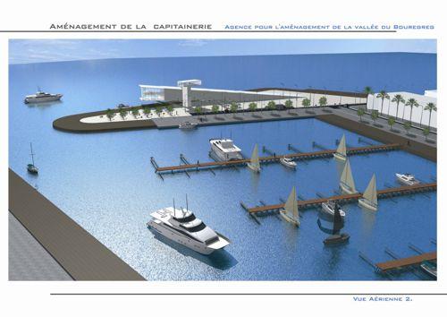 Projet d'aménagement de la capitainerie de la marina du Bouregreg (Rabat, Maroc) - par Luc Simon (designer) & Omar Alaoui (architecte).