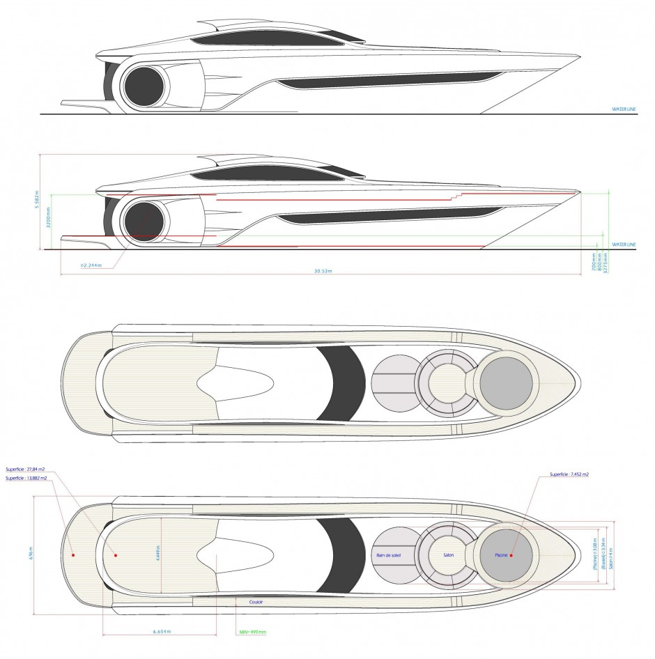 Le Montara 68', bateau futuriste, yacht design par les architectes navals Simon, Dodelande & Laraki
