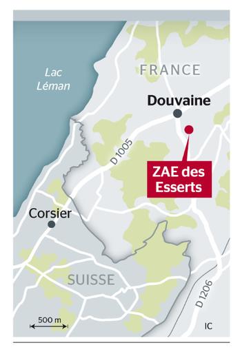 A Douvaine, un Genevois redonne vie à une friche : Tribune de Genève le 6 mai 2015 - carte