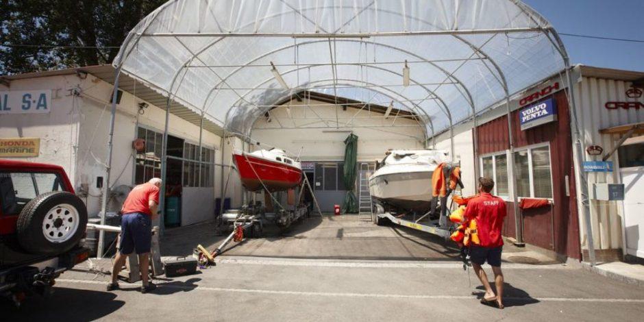 Chantier naval GM Marine : hivernage et entretient du bateau à Genève. Vente de bateaux moteur d'occasions.