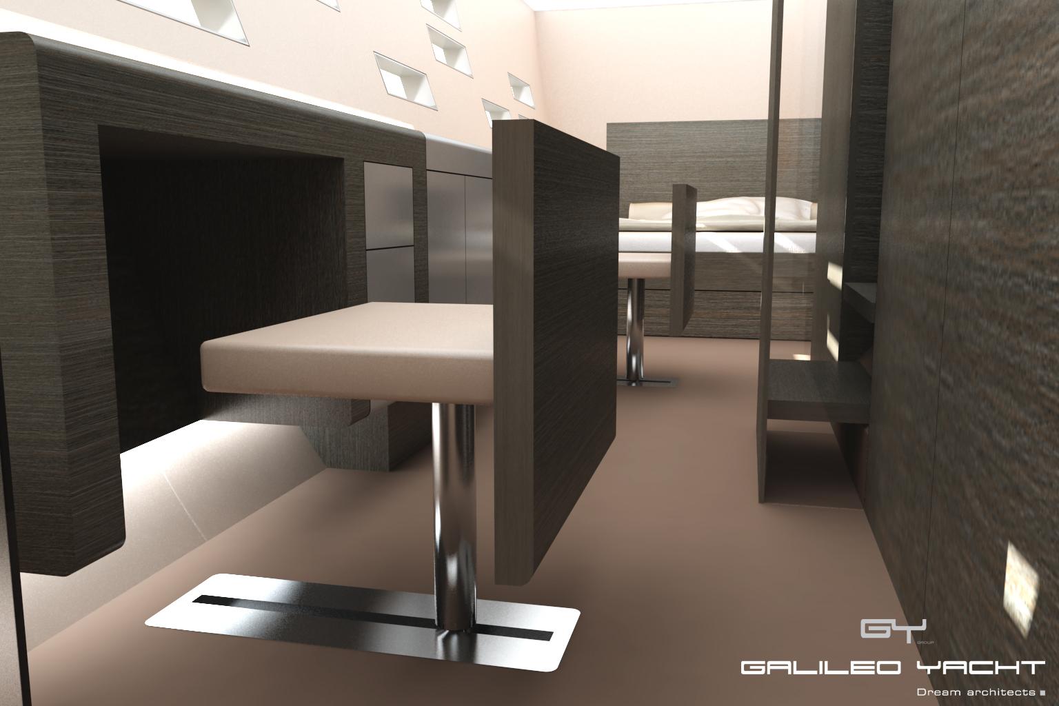 Design d'intérieur de yacht - Luc Simon designer