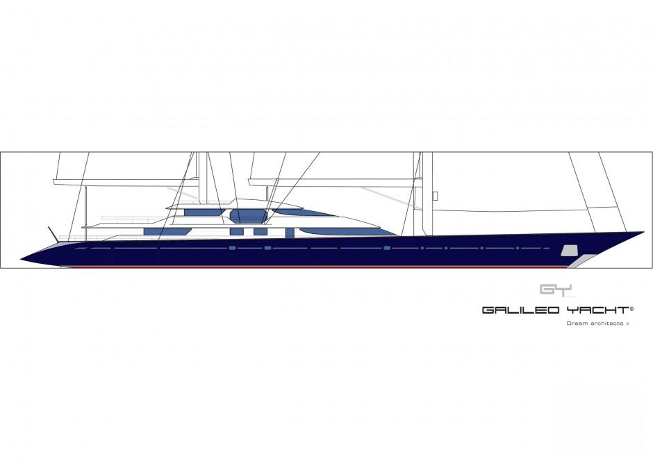 Galiléo Yacht monocoque Voile 80 pieds par Luc Simon architecte naval & designer